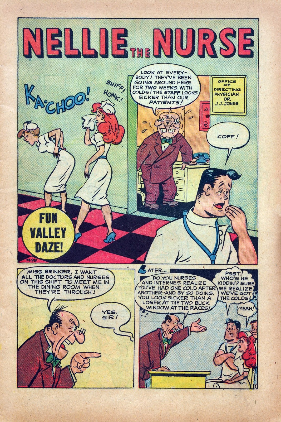 Read online Nellie The Nurse (1945) comic -  Issue #25 - 3