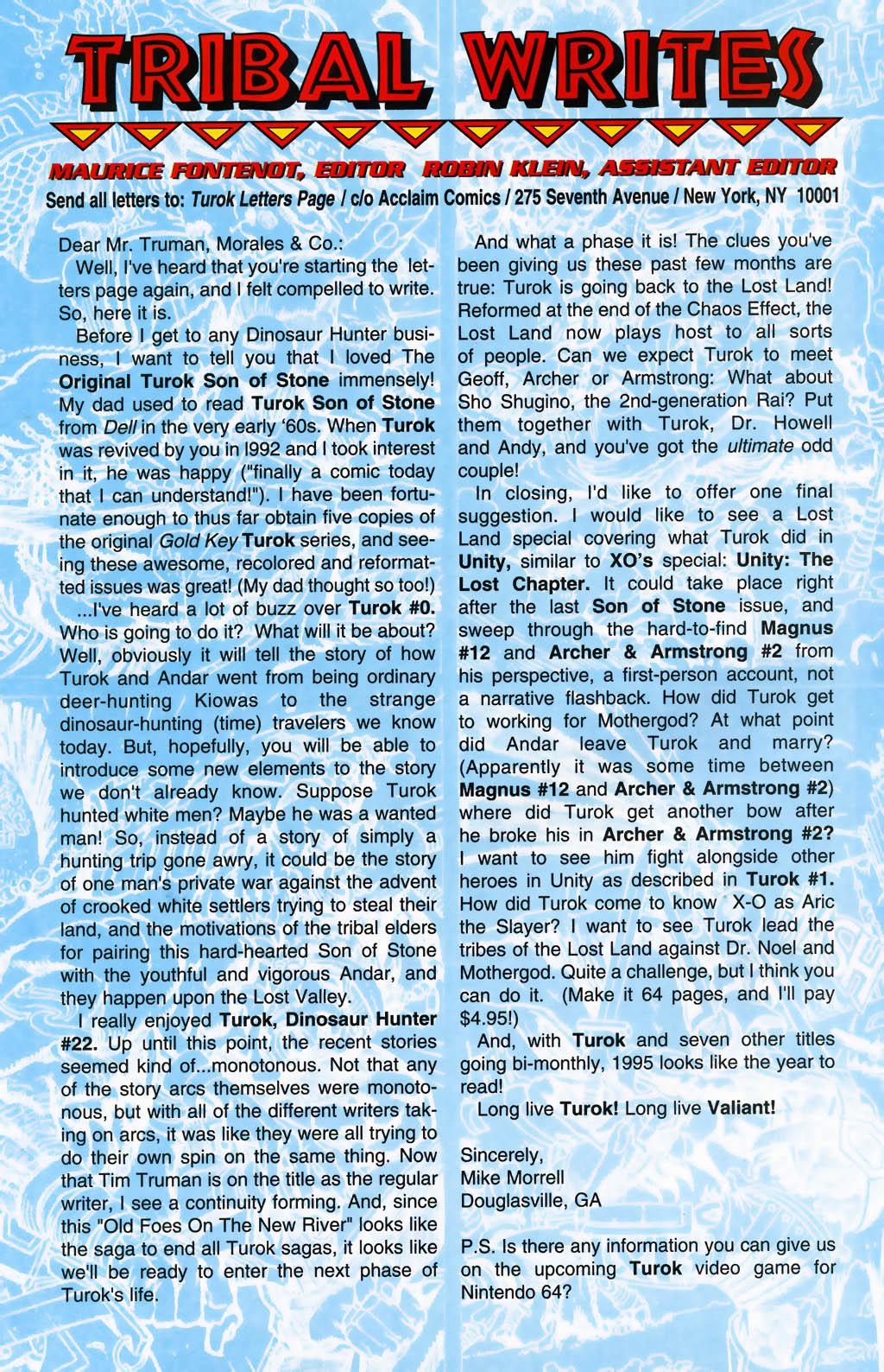 Read online Turok, Dinosaur Hunter (1993) comic -  Issue #26 - 23