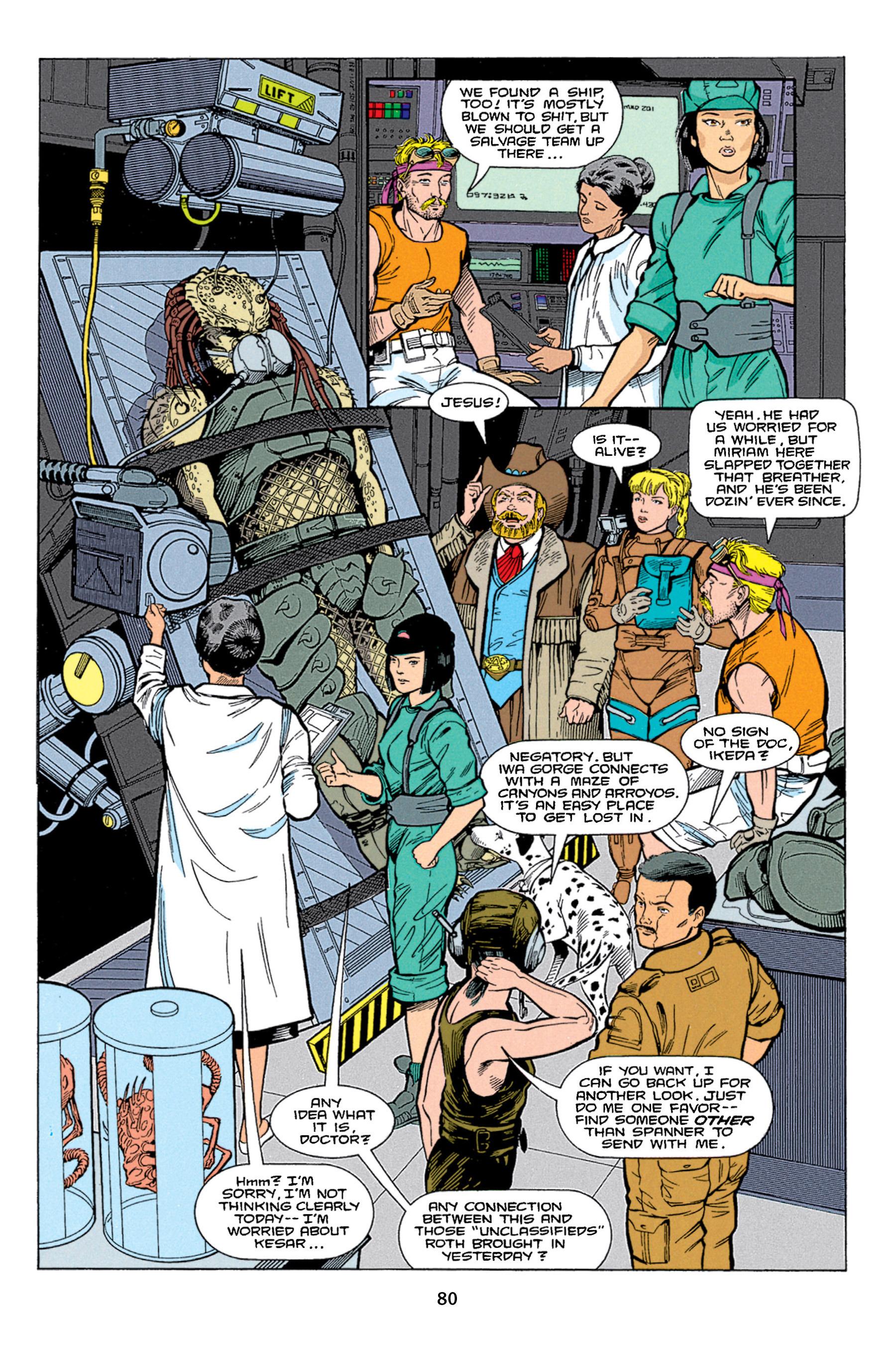 Read online Aliens vs. Predator Omnibus comic -  Issue # _TPB 1 Part 1 - 80