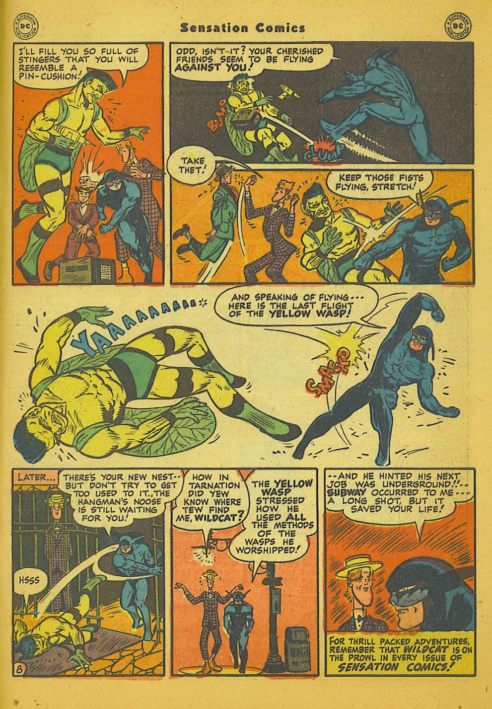 Read online Sensation (Mystery) Comics comic -  Issue #66 - 49