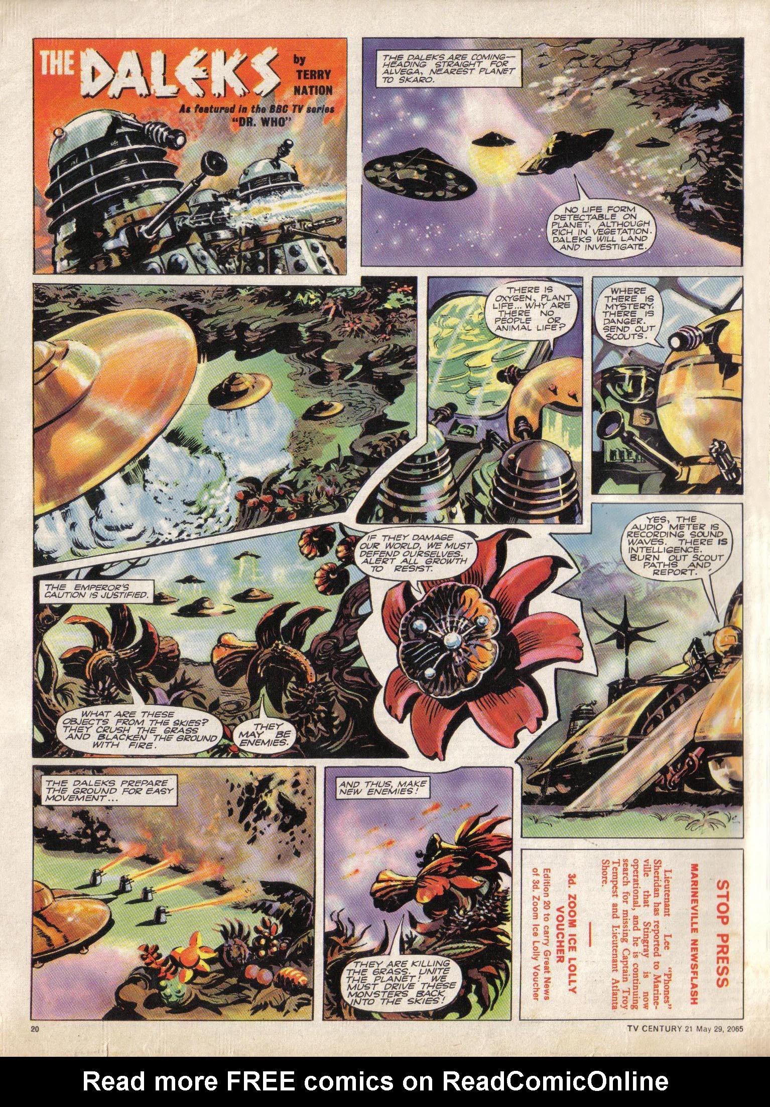 Read online TV Century 21 (TV 21) comic -  Issue #19 - 19