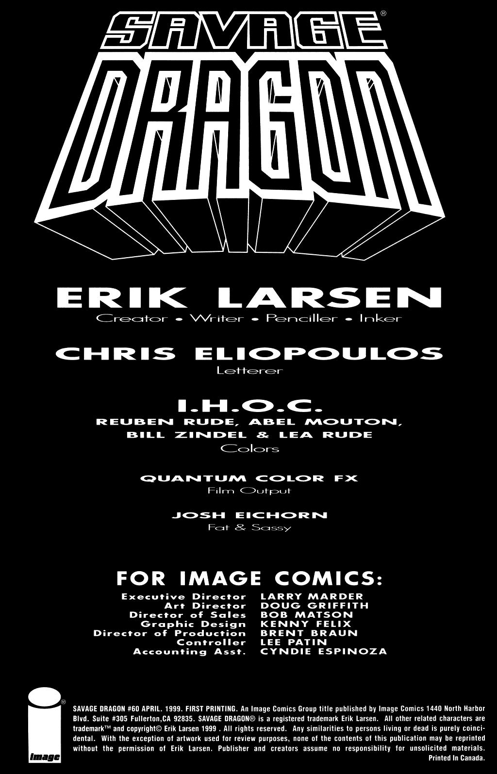 The Savage Dragon (1993) Issue #60 #63 - English 2