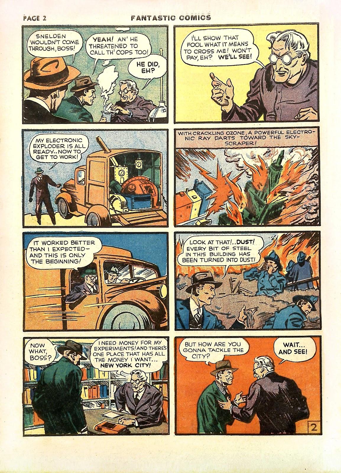 Read online Fantastic Comics comic -  Issue #11 - 5