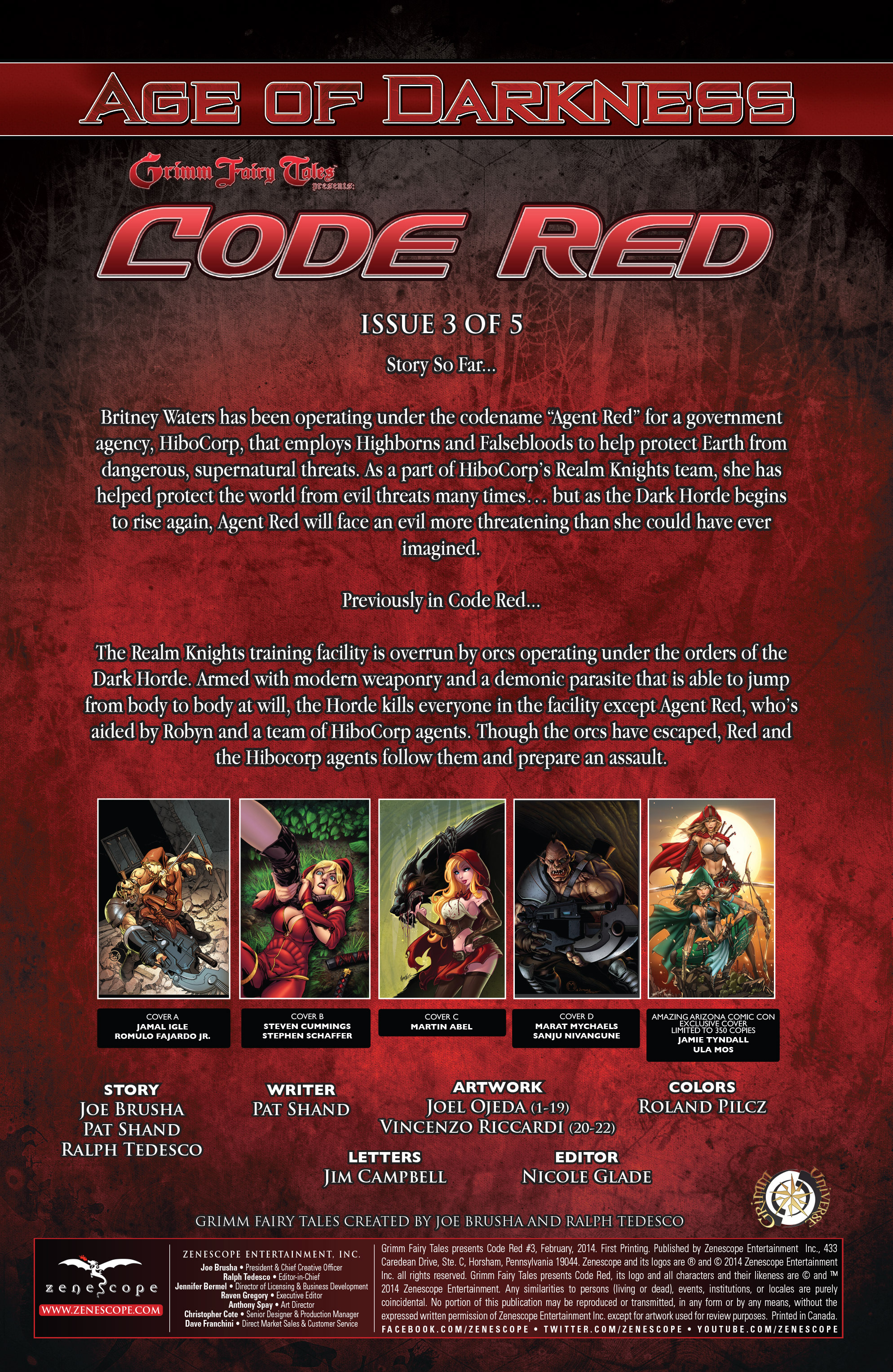 Read online Grimm Fairy Tales presents Code Red comic -  Issue # TPB - 54