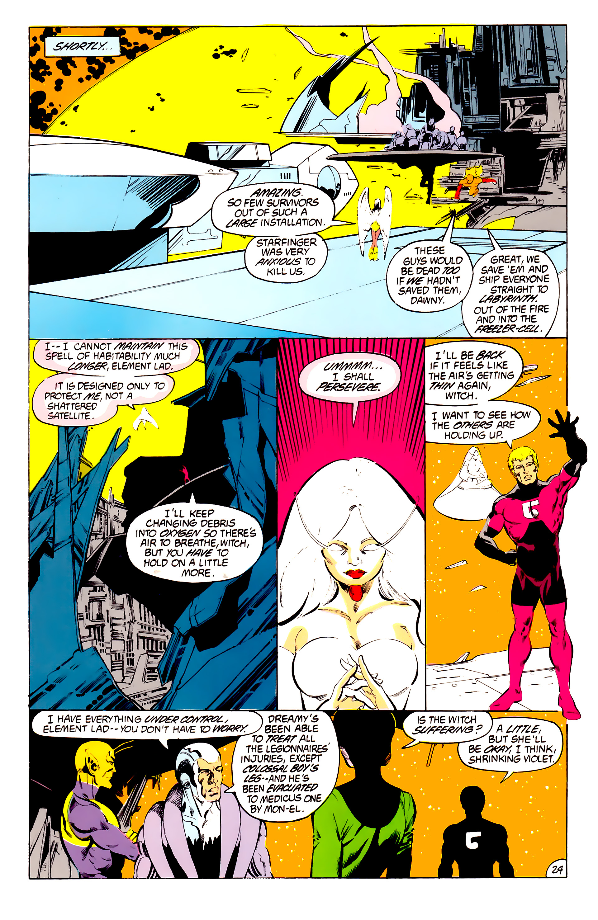 Legion of Super-Heroes (1984) 41 Page 24