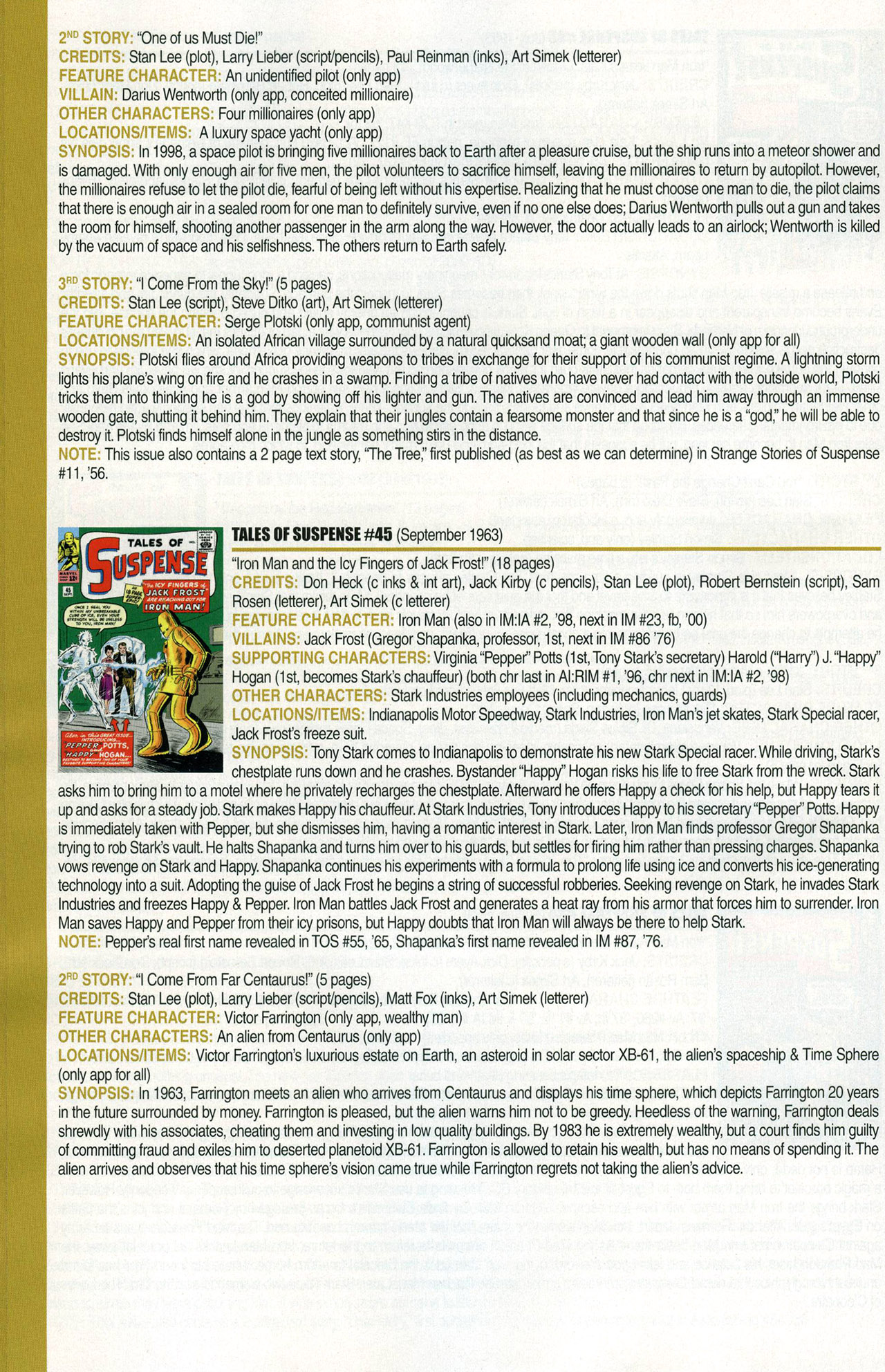 Read online Official Index to the Marvel Universe comic -  Issue #1 - 28