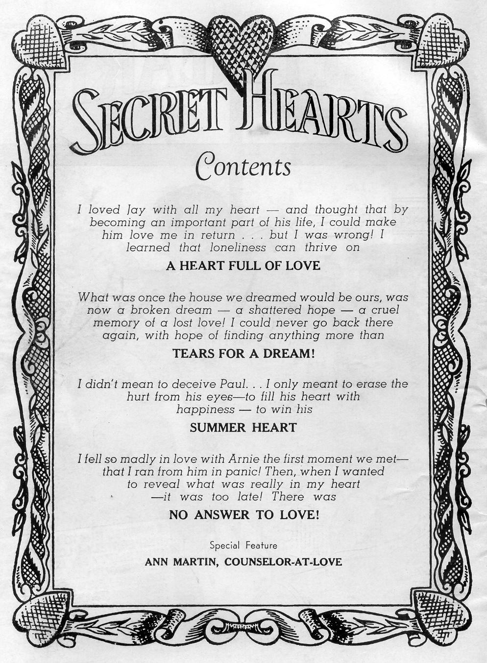 Read online Secret Hearts comic -  Issue #45 - 2