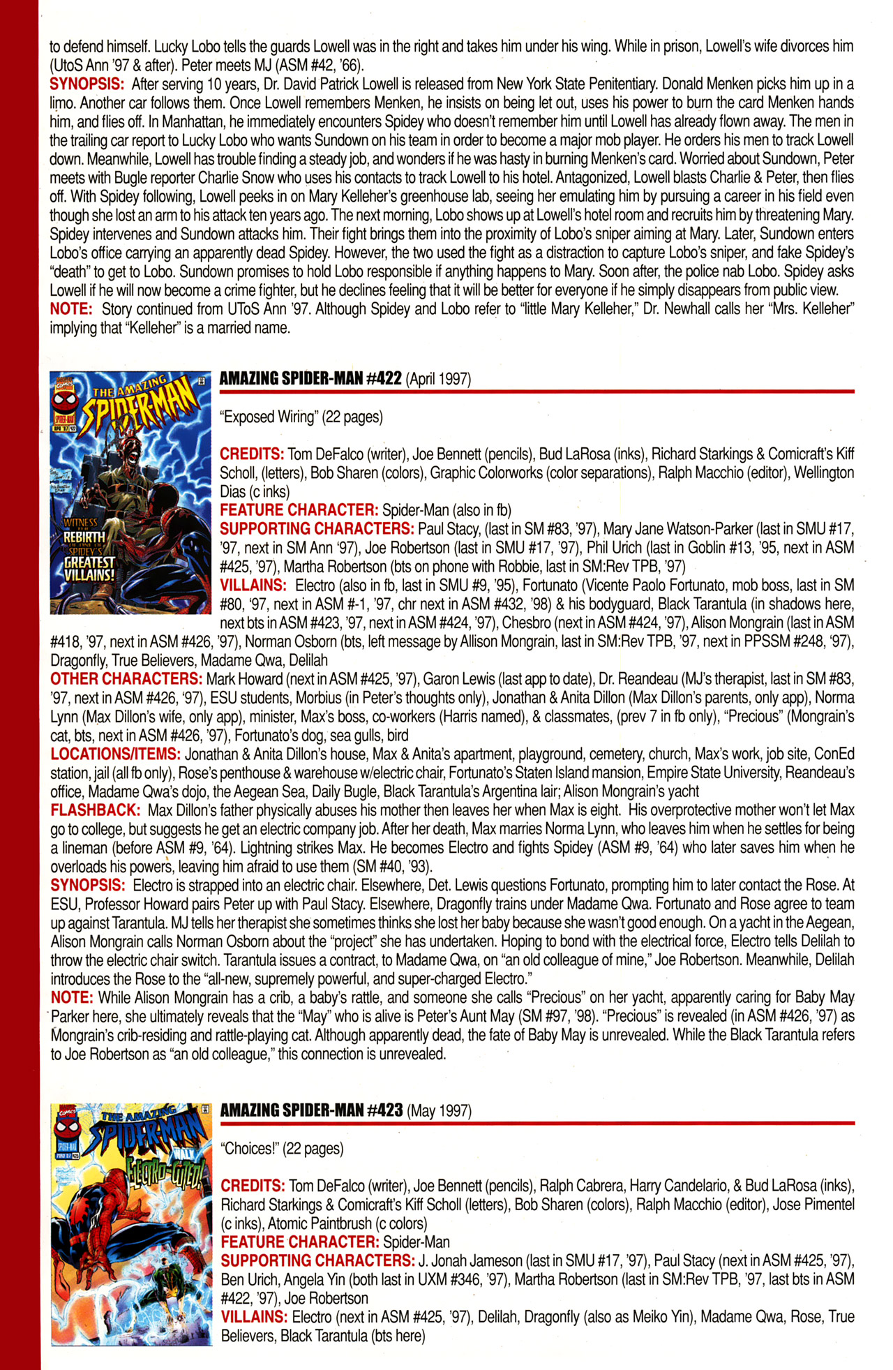 Read online Official Index to the Marvel Universe comic -  Issue #10 - 16