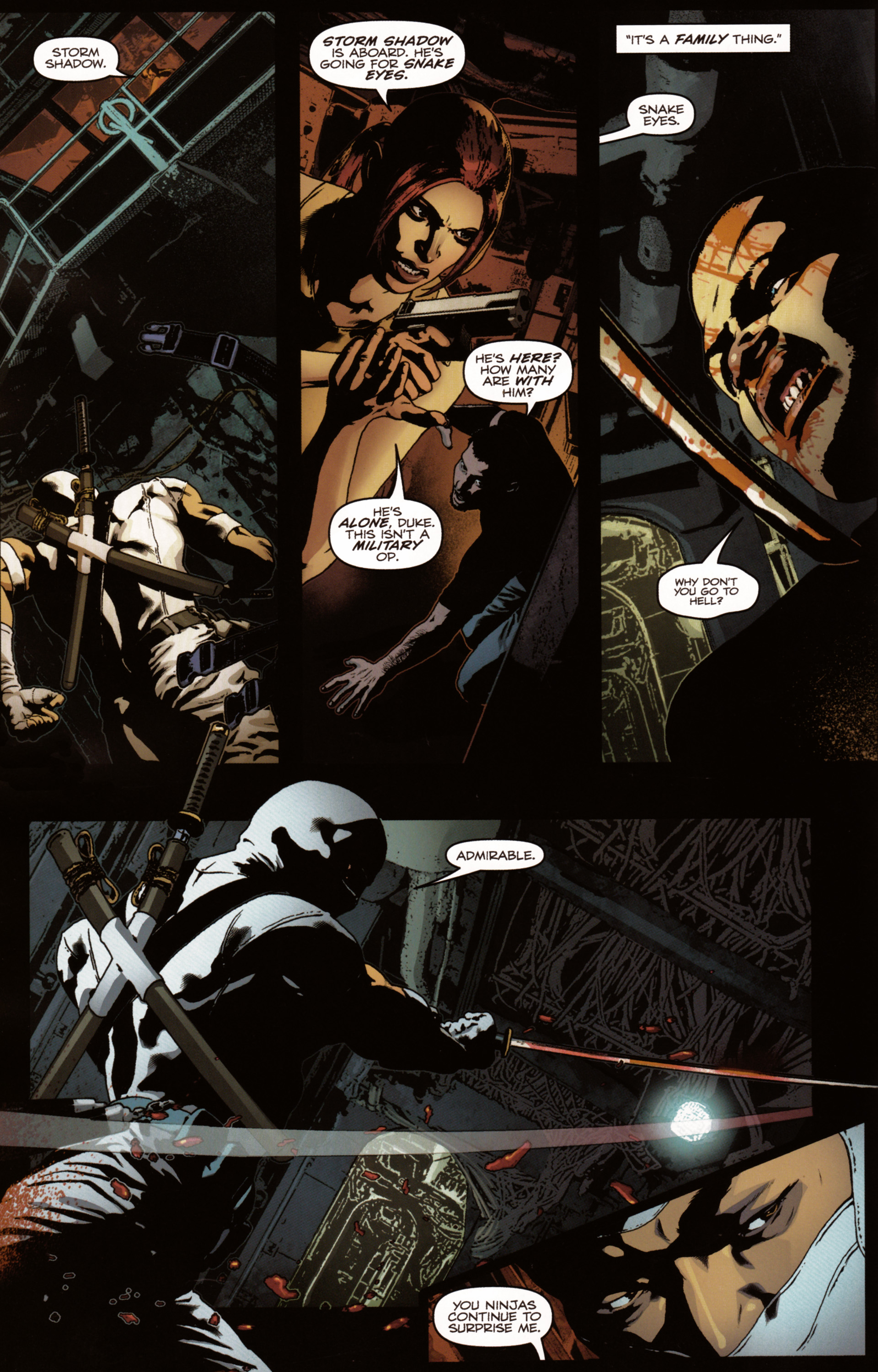 Read online Snake Eyes and Storm Shadow comic -  Issue #20 - 12