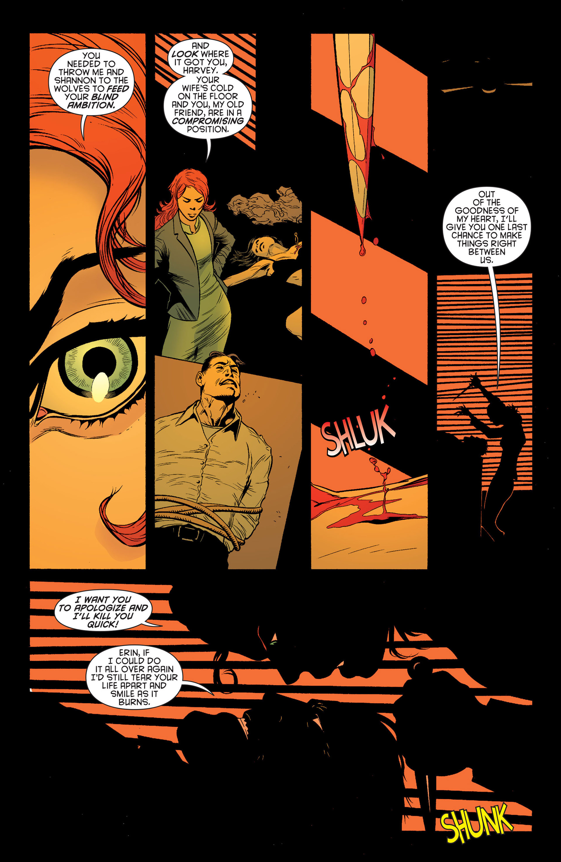 Read online Batman and Robin (2011) comic -  Issue #24 - Batman and Two-Face - 16