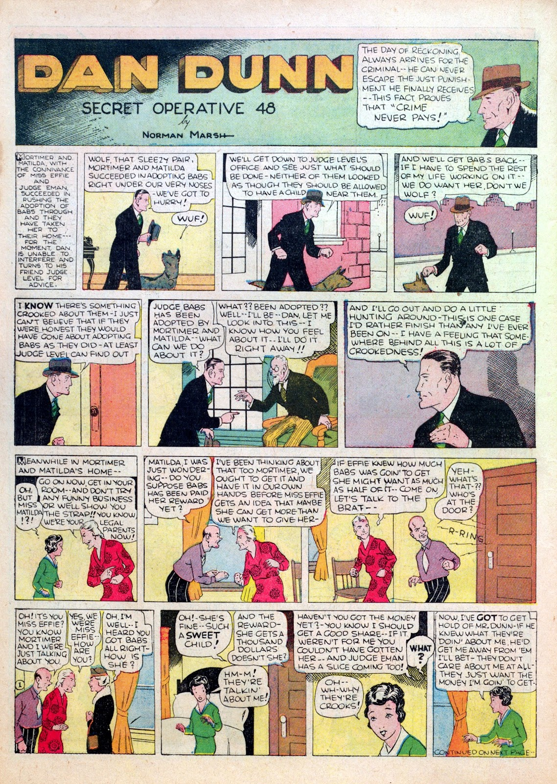 Read online Famous Funnies comic -  Issue #15 - 56