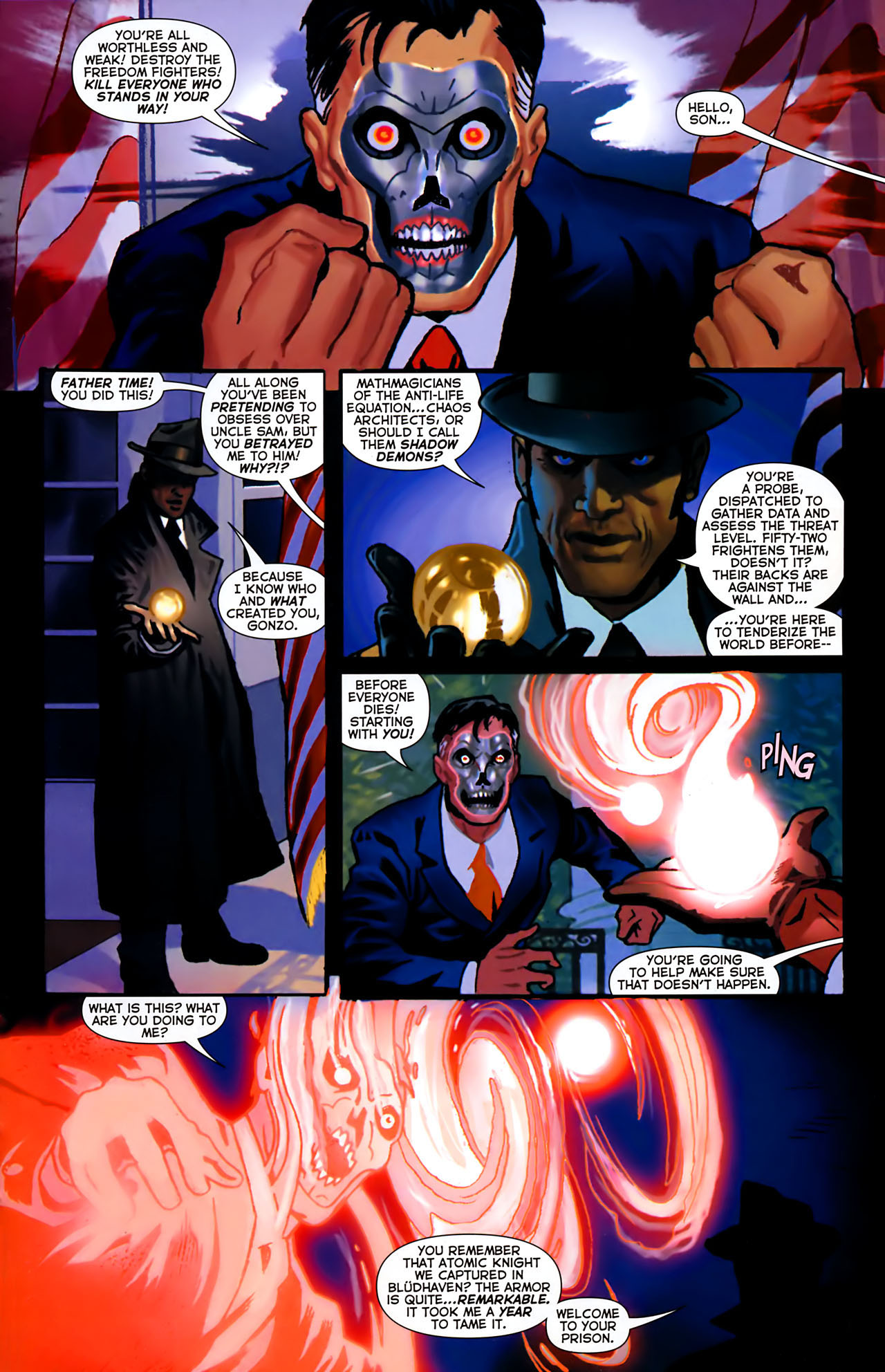 Read online Uncle Sam and the Freedom Fighters (2006) comic -  Issue #8 - 13