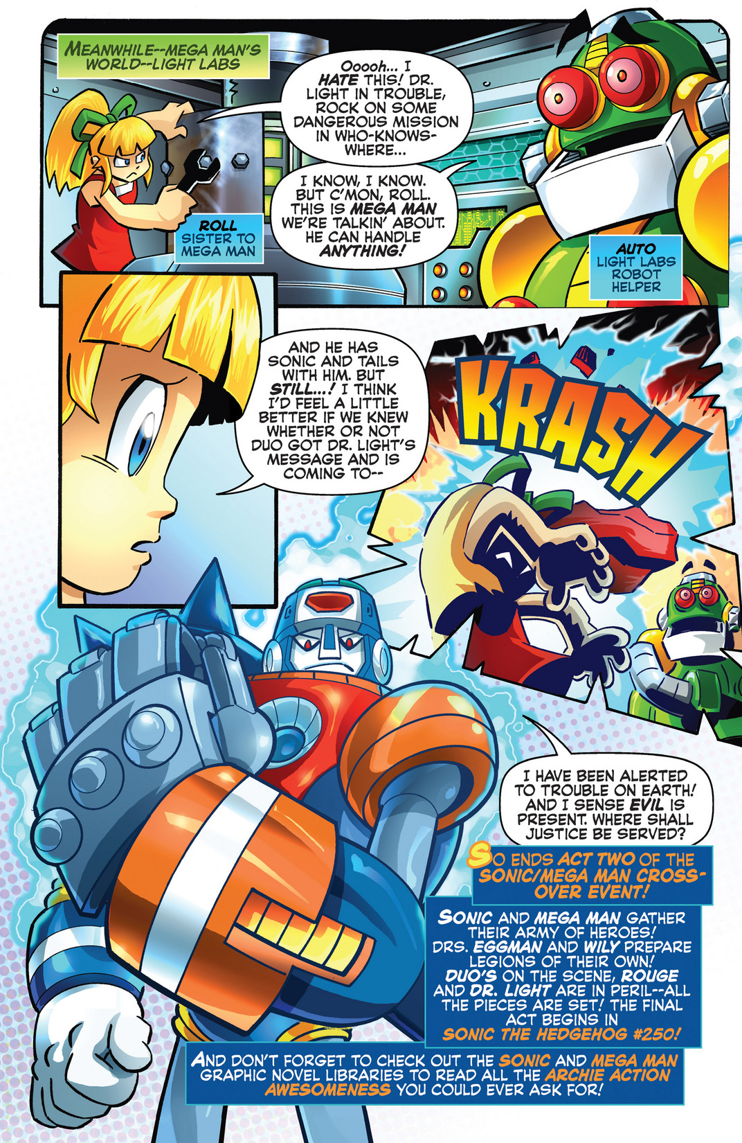 Read online Sonic Mega Man Worlds Collide comic -  Issue # Vol 2 - 104