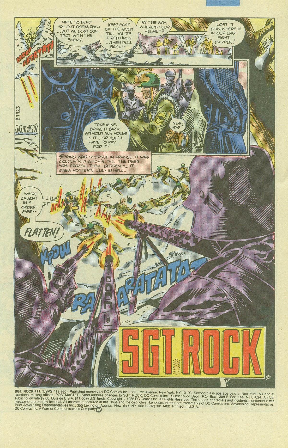 Read online Sgt. Rock comic -  Issue #411 - 3