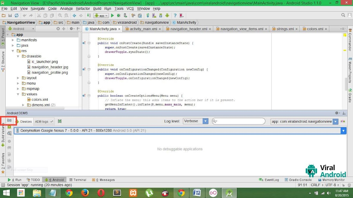 Android Studio- Screen Capture