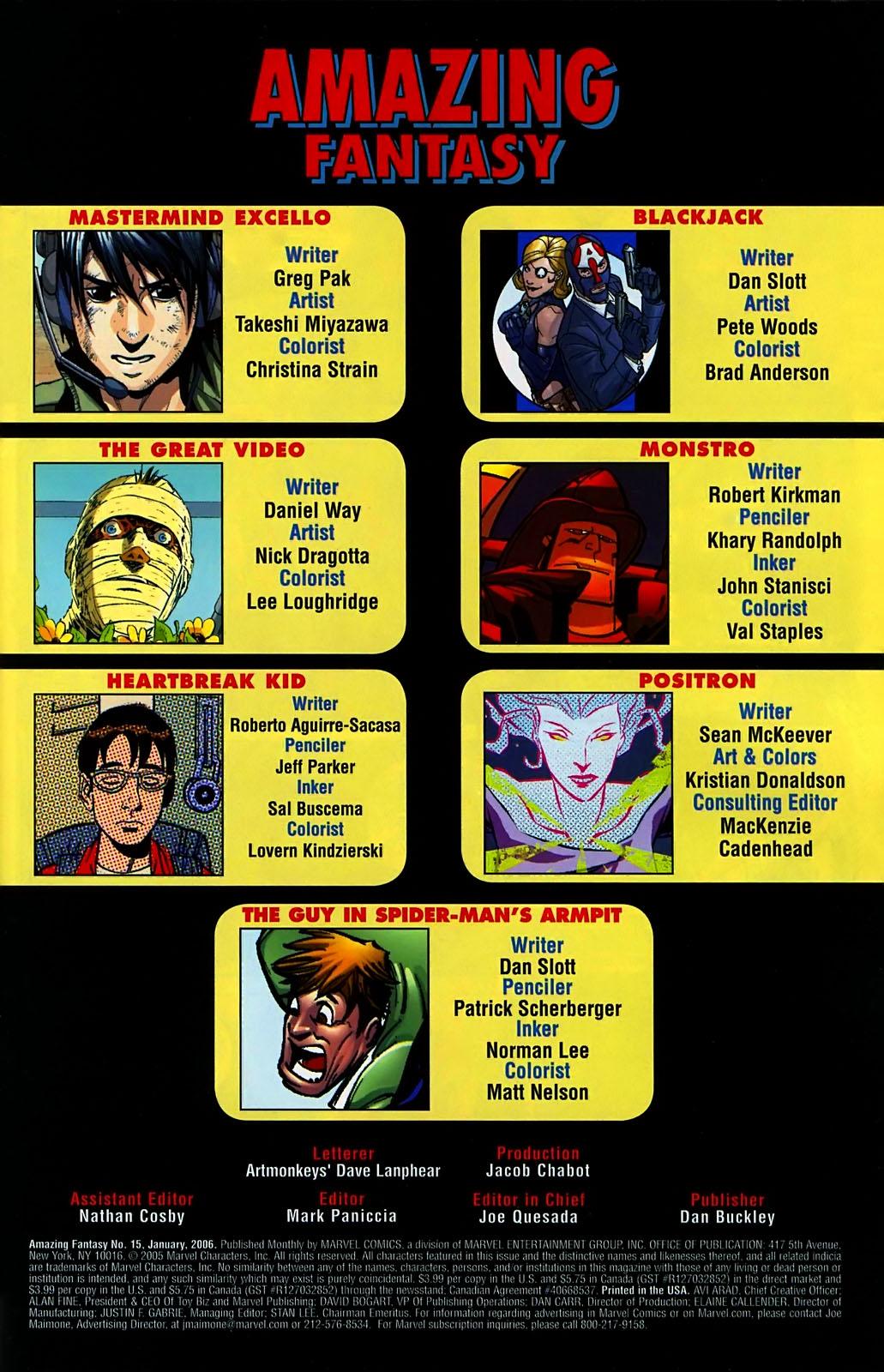 Read online Amazing Fantasy (2004) comic -  Issue #15 - 2