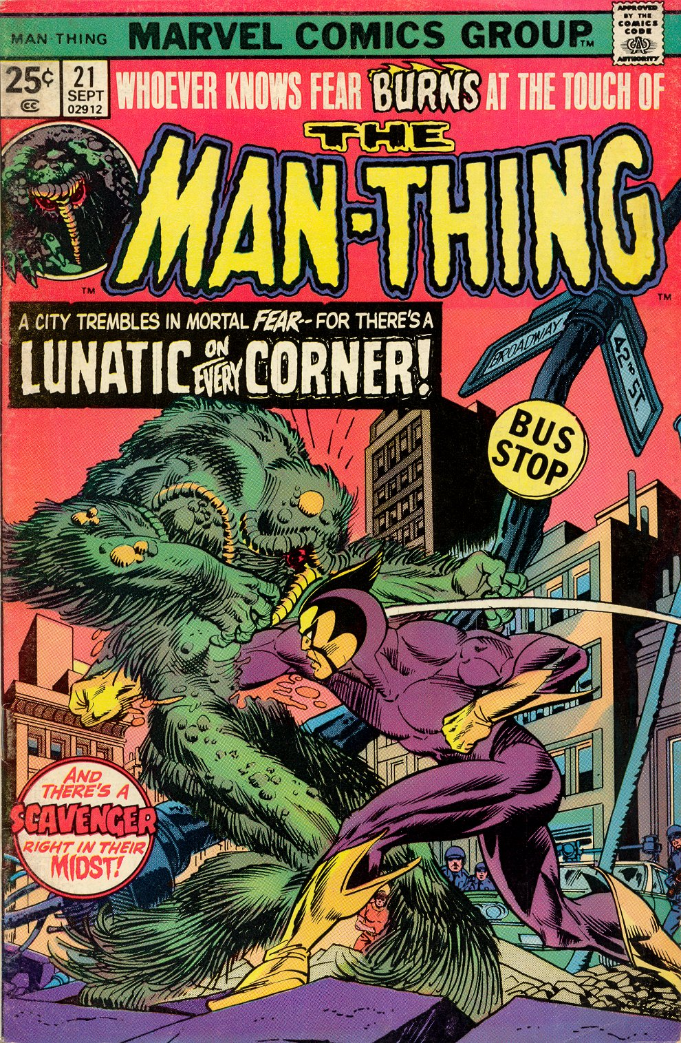 Man-Thing (1974) issue 21 - Page 1