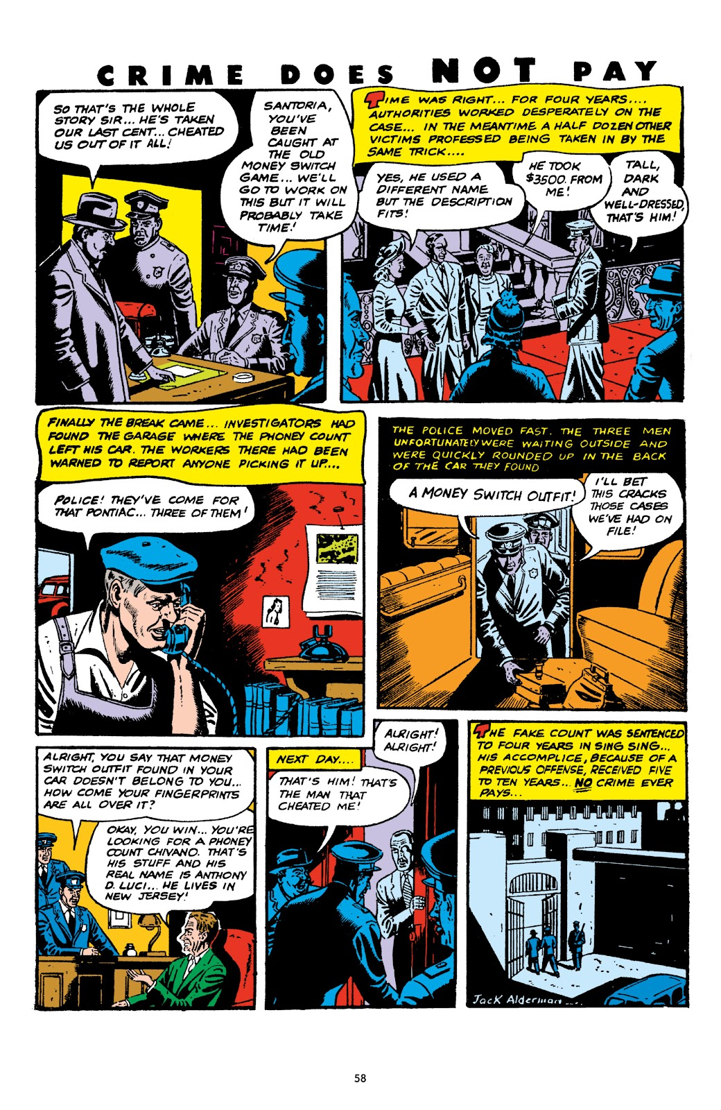 Read online Crime Does Not Pay Archives comic -  Issue # TPB 6 (Part 1) - 60