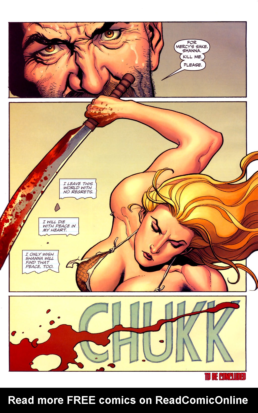 Read online Shanna, the She-Devil (2005) comic -  Issue #6 - 22