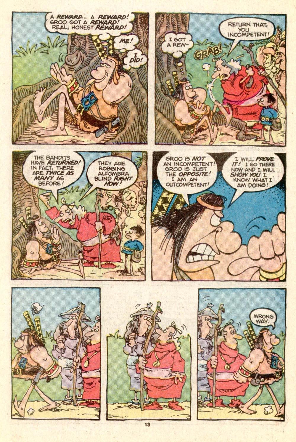 Read online Sergio Aragonés Groo the Wanderer comic -  Issue #25 - 13