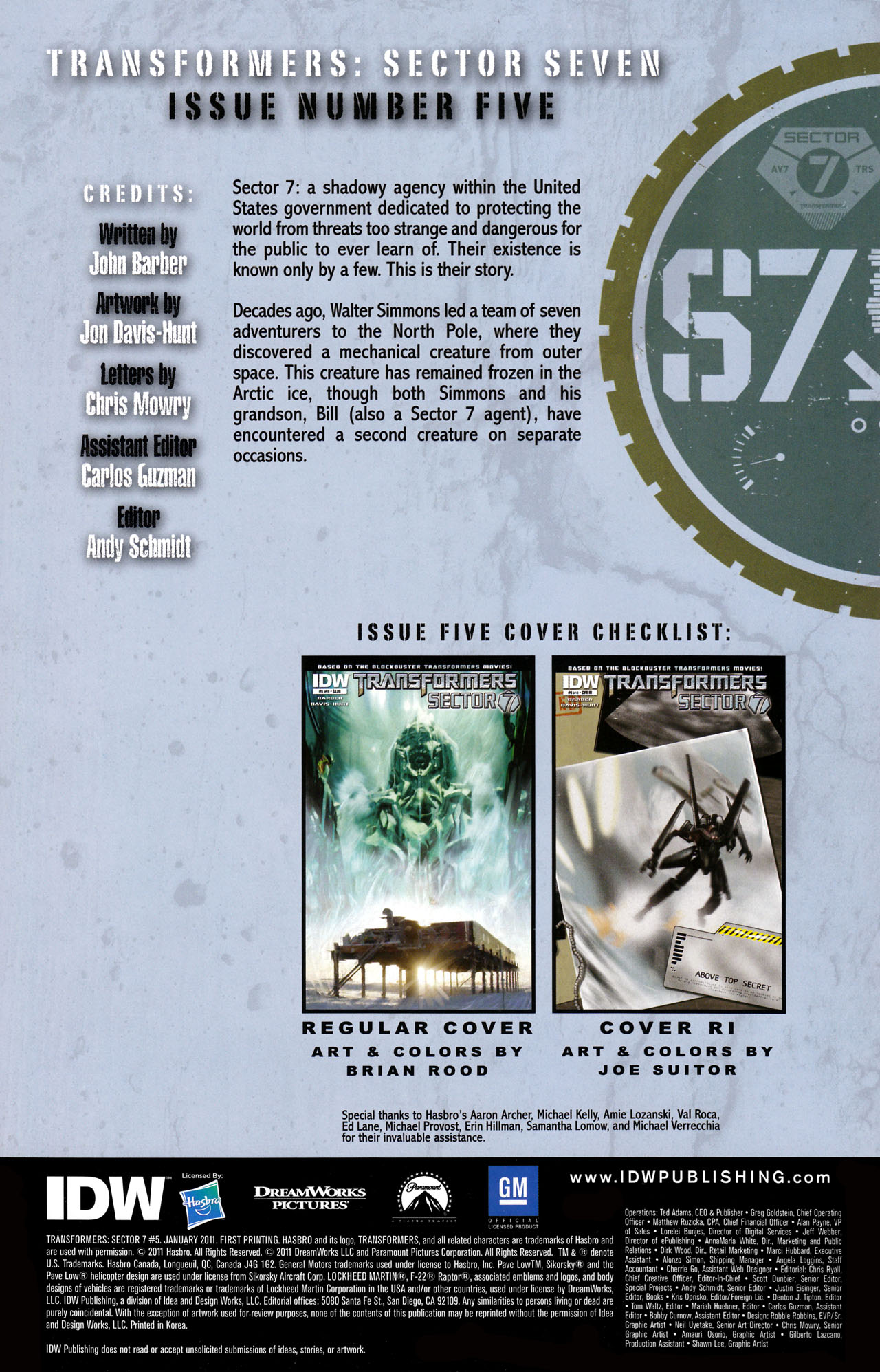 Read online Transformers: Sector 7 comic -  Issue #5 - 2