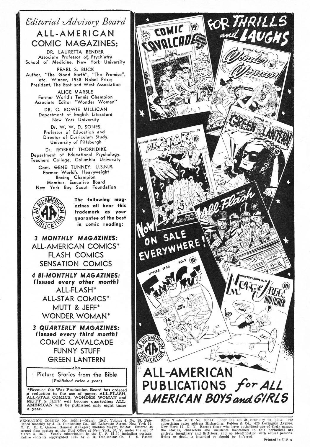 Read online Sensation (Mystery) Comics comic -  Issue #39 - 2