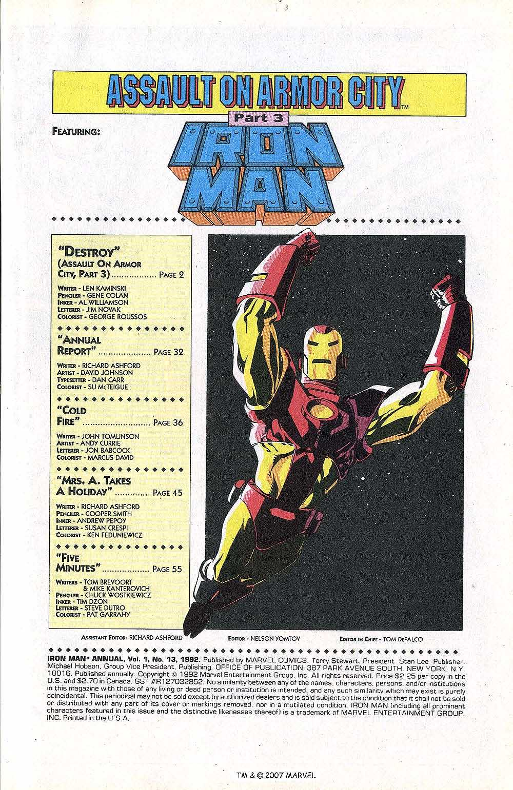 Iron Man Annual issue 13 - Page 3