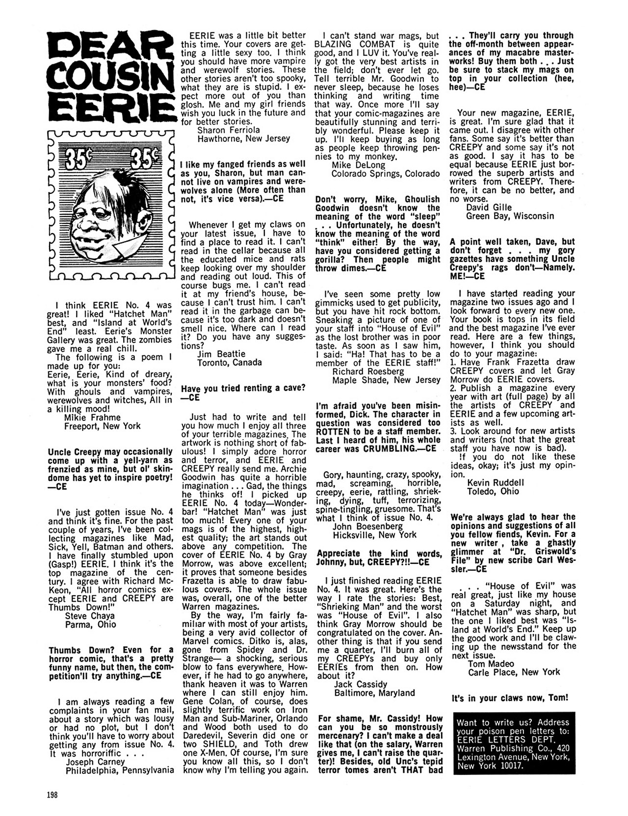 Read online Eerie Archives comic -  Issue # TPB 1 - 199
