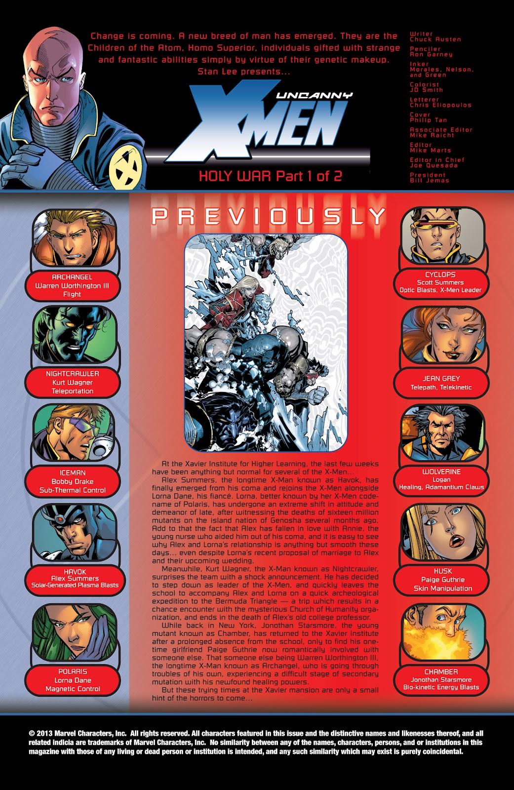 Uncanny X-Men (1963) issue 423 - Page 2