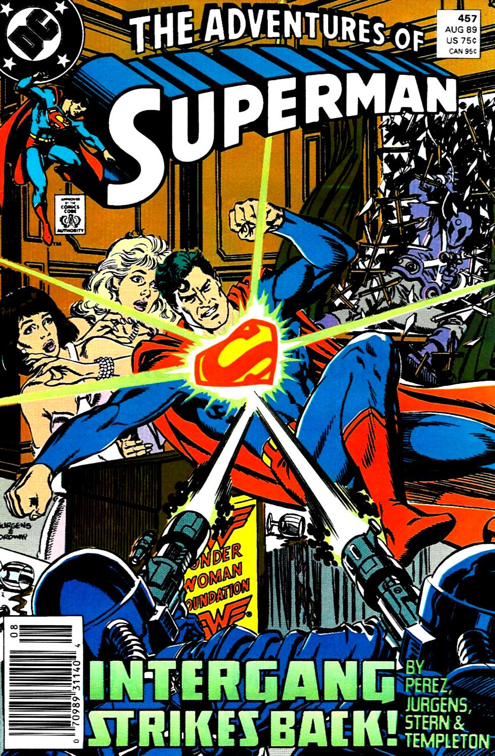 Read online Adventures of Superman (1987) comic -  Issue #457 - 1