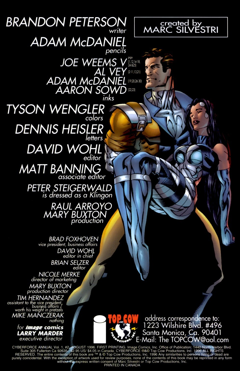 Read online Cyberforce (1993) comic -  Issue # Annual 2 - 2