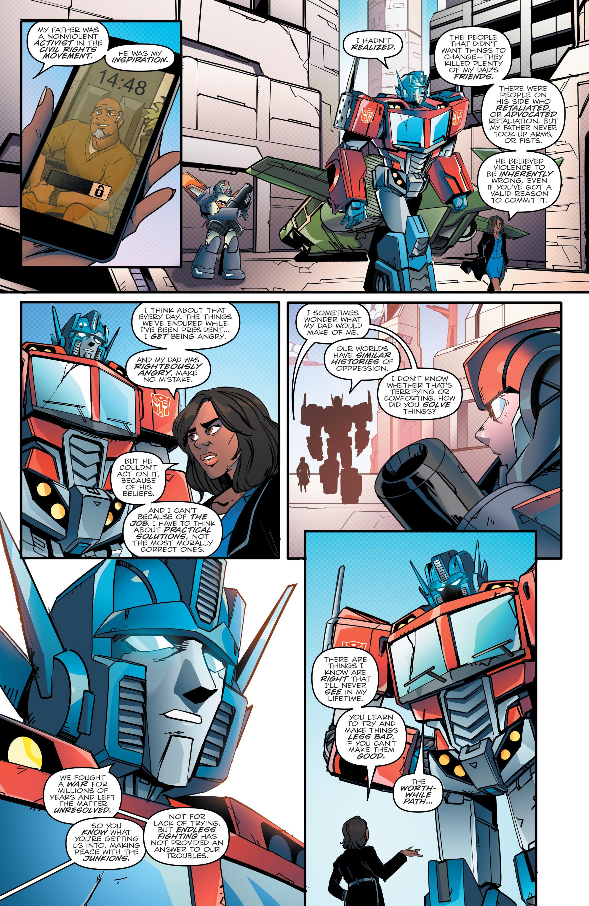 Read online Optimus Prime comic -  Issue #7 - 8