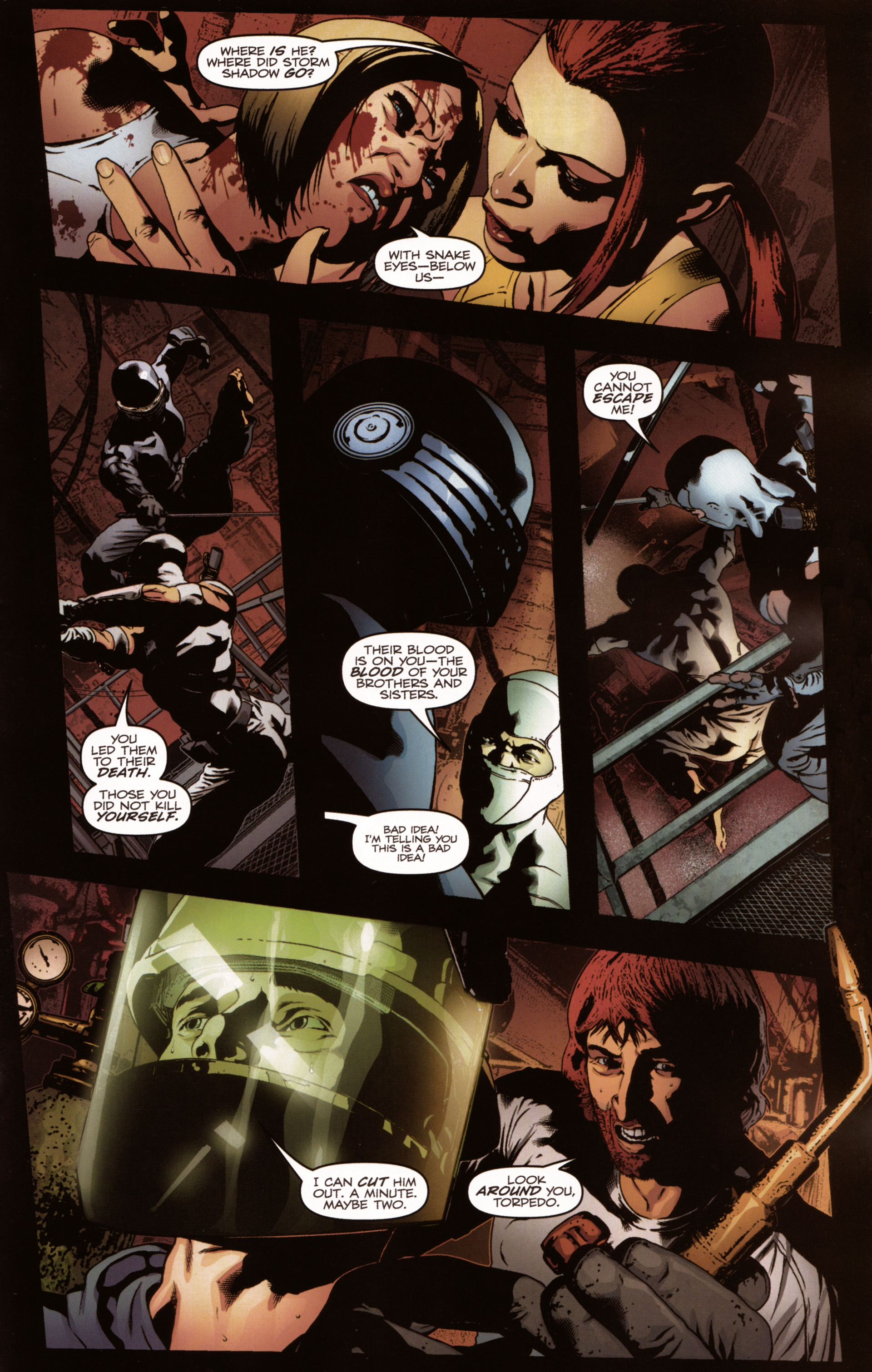 Read online Snake Eyes and Storm Shadow comic -  Issue #20 - 17