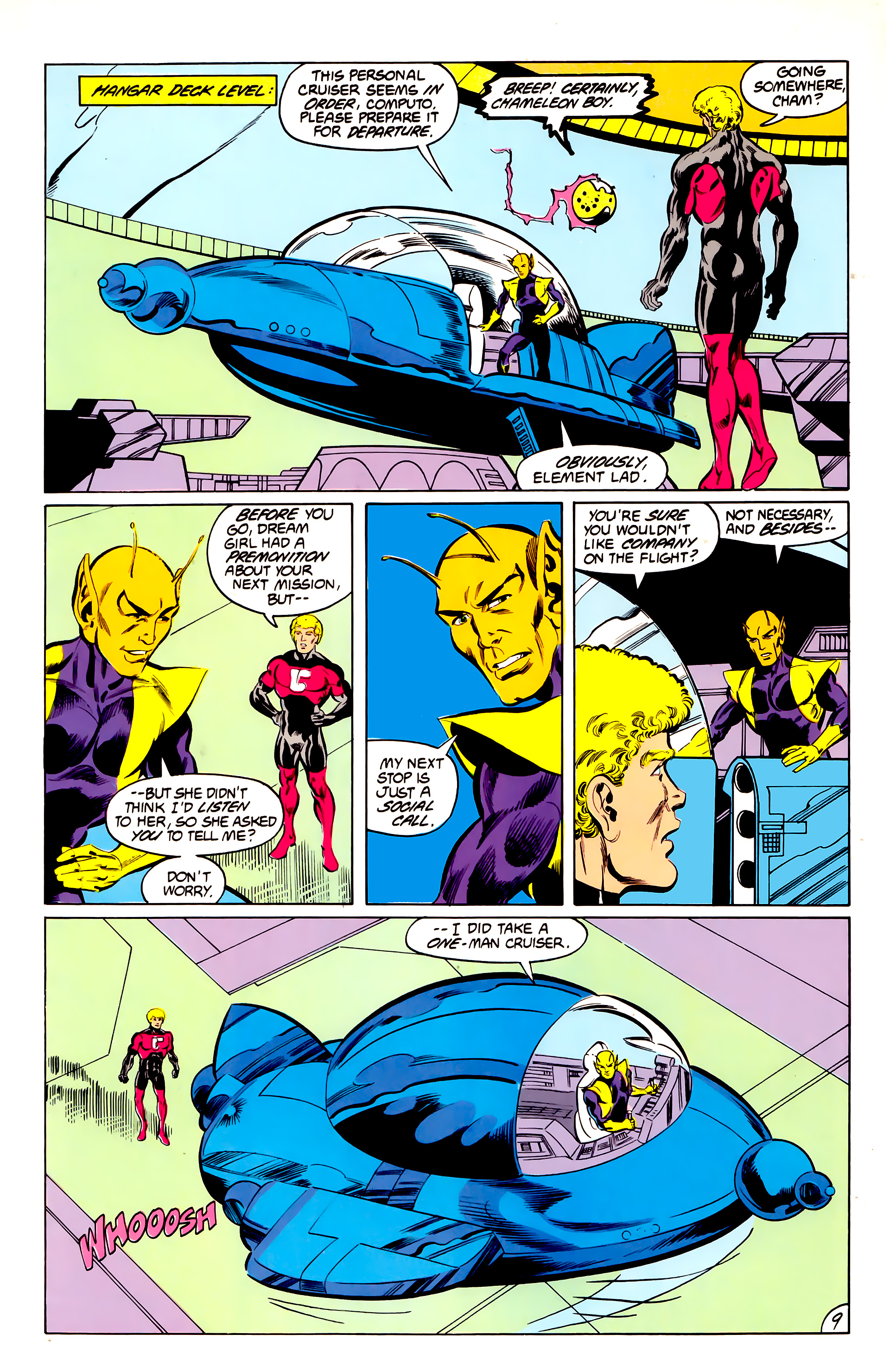 Legion of Super-Heroes (1984) 42 Page 9