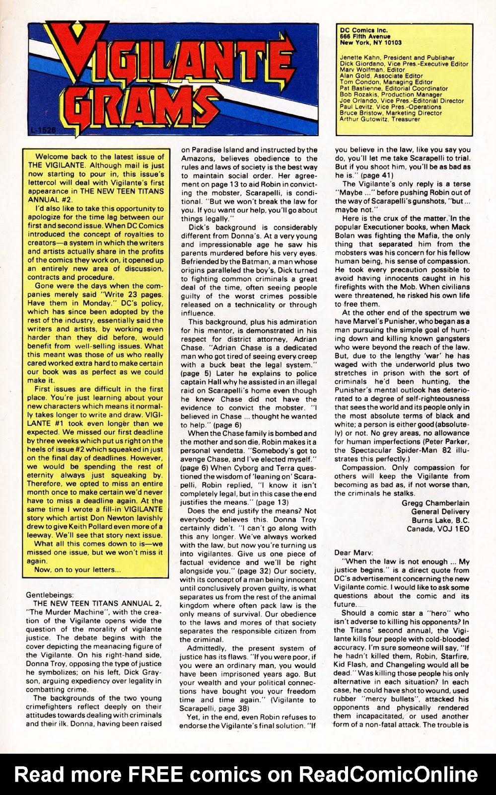 Vigilante (1983) issue 3 - Page 25