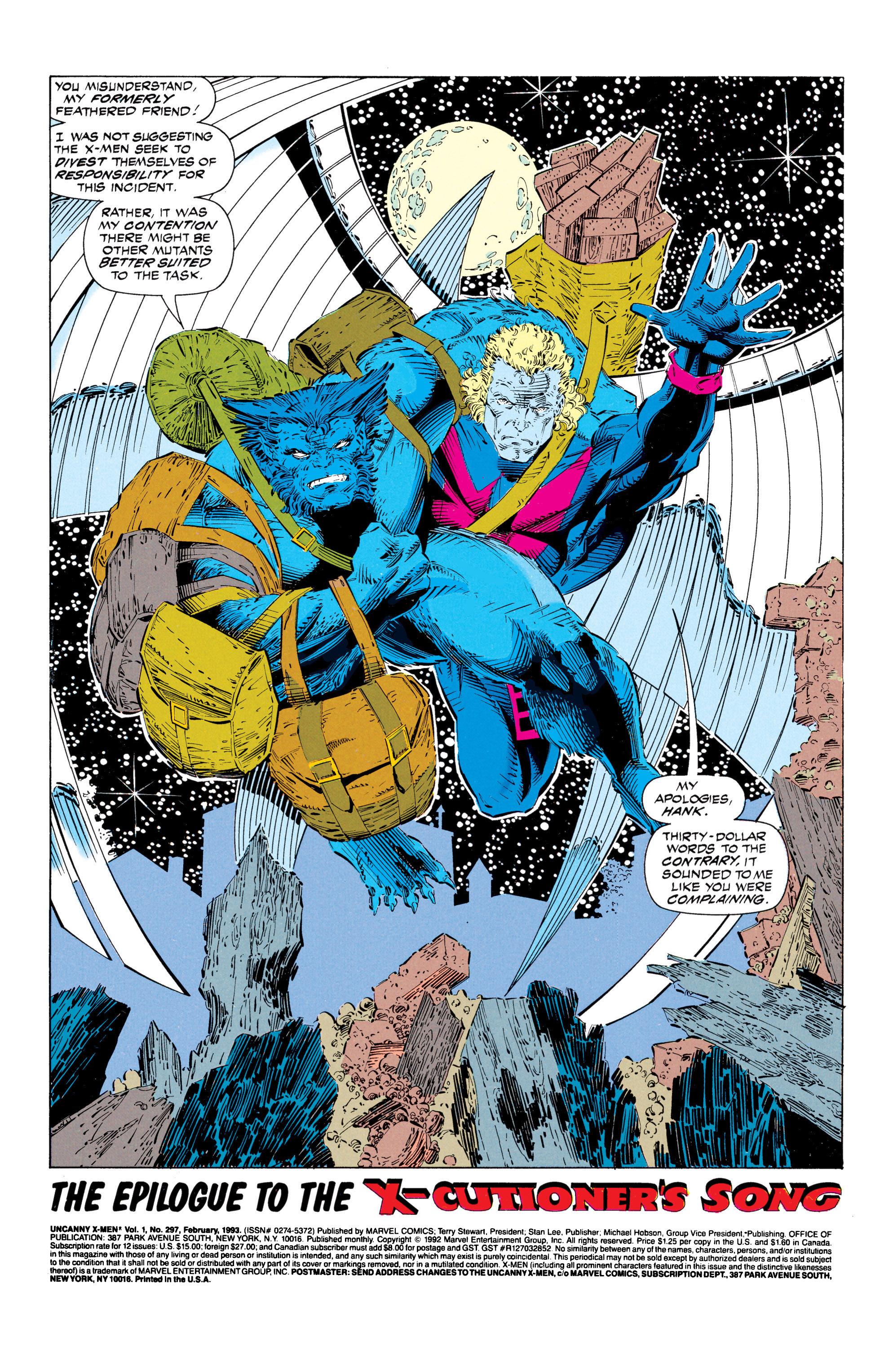 Read online Uncanny X-Men (1963) comic -  Issue #297 - 2