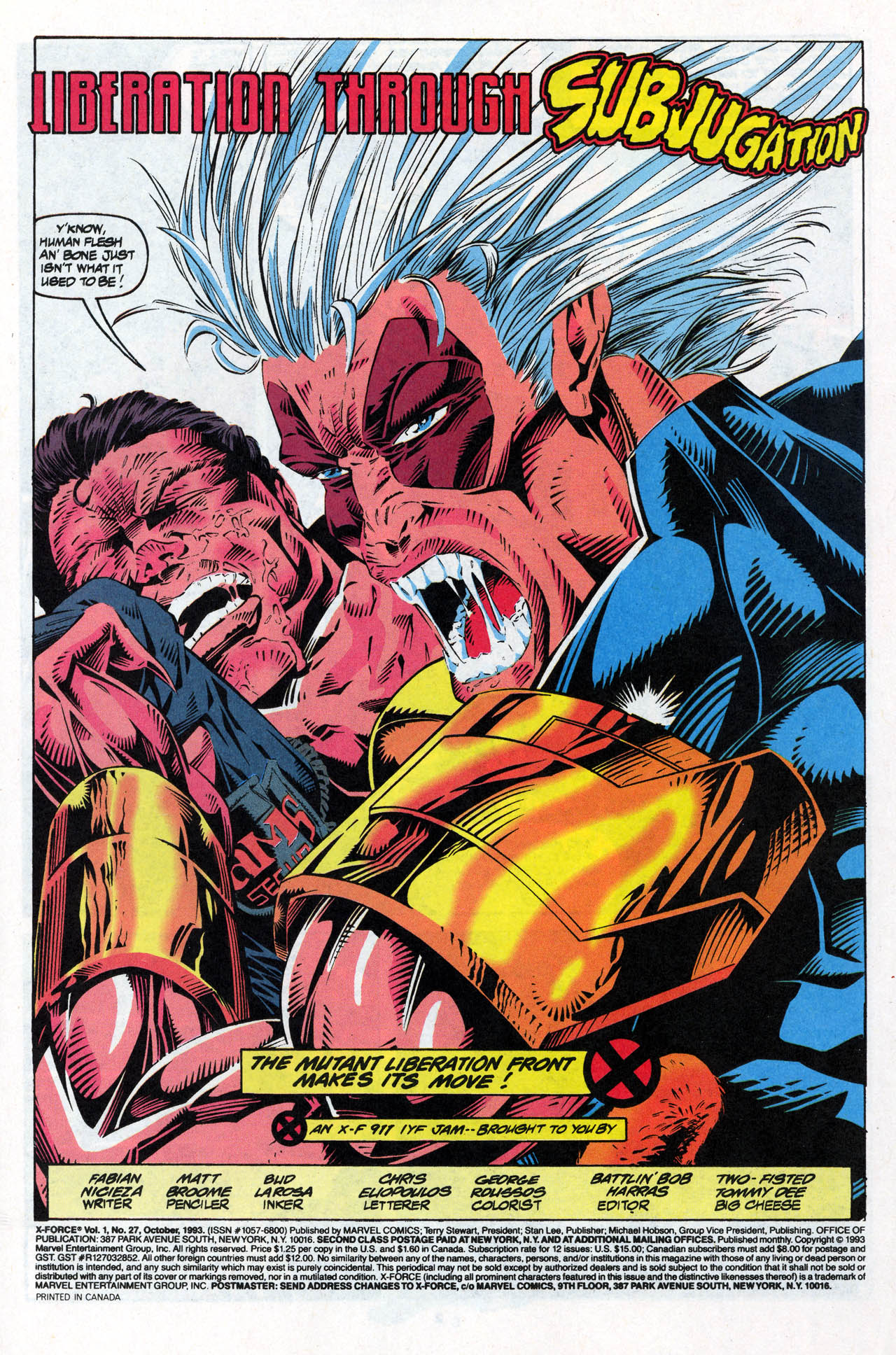 Read online X-Force (1991) comic -  Issue #27 - 3