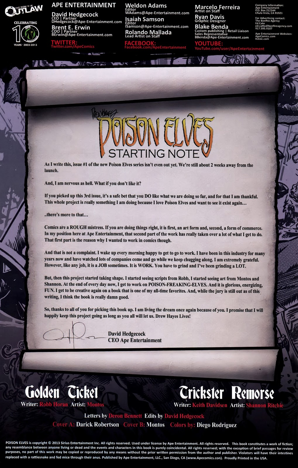 Read online Poison Elves (2013) comic -  Issue #3 - 2