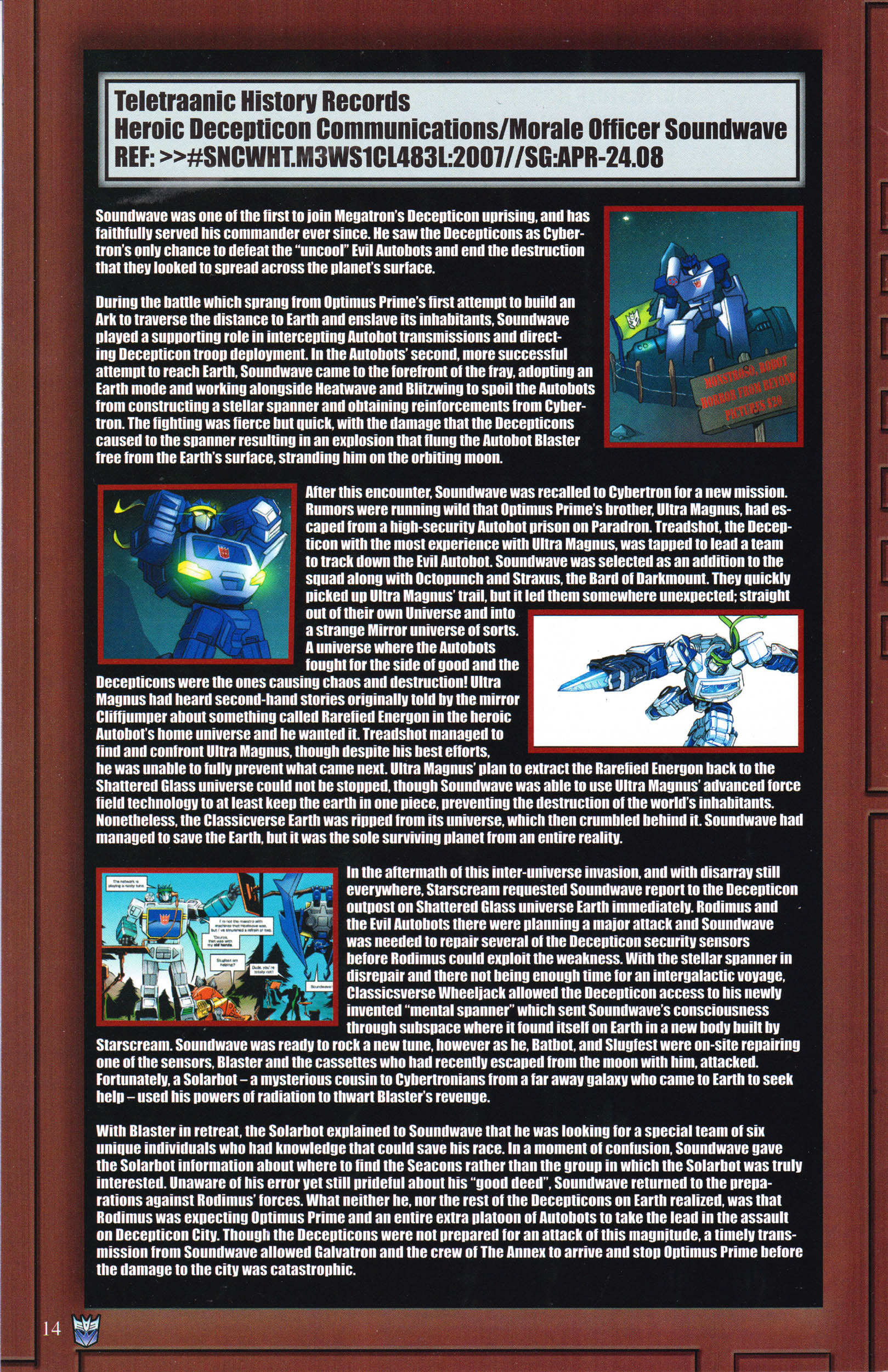 Read online Transformers: Collectors' Club comic -  Issue #65 - 14