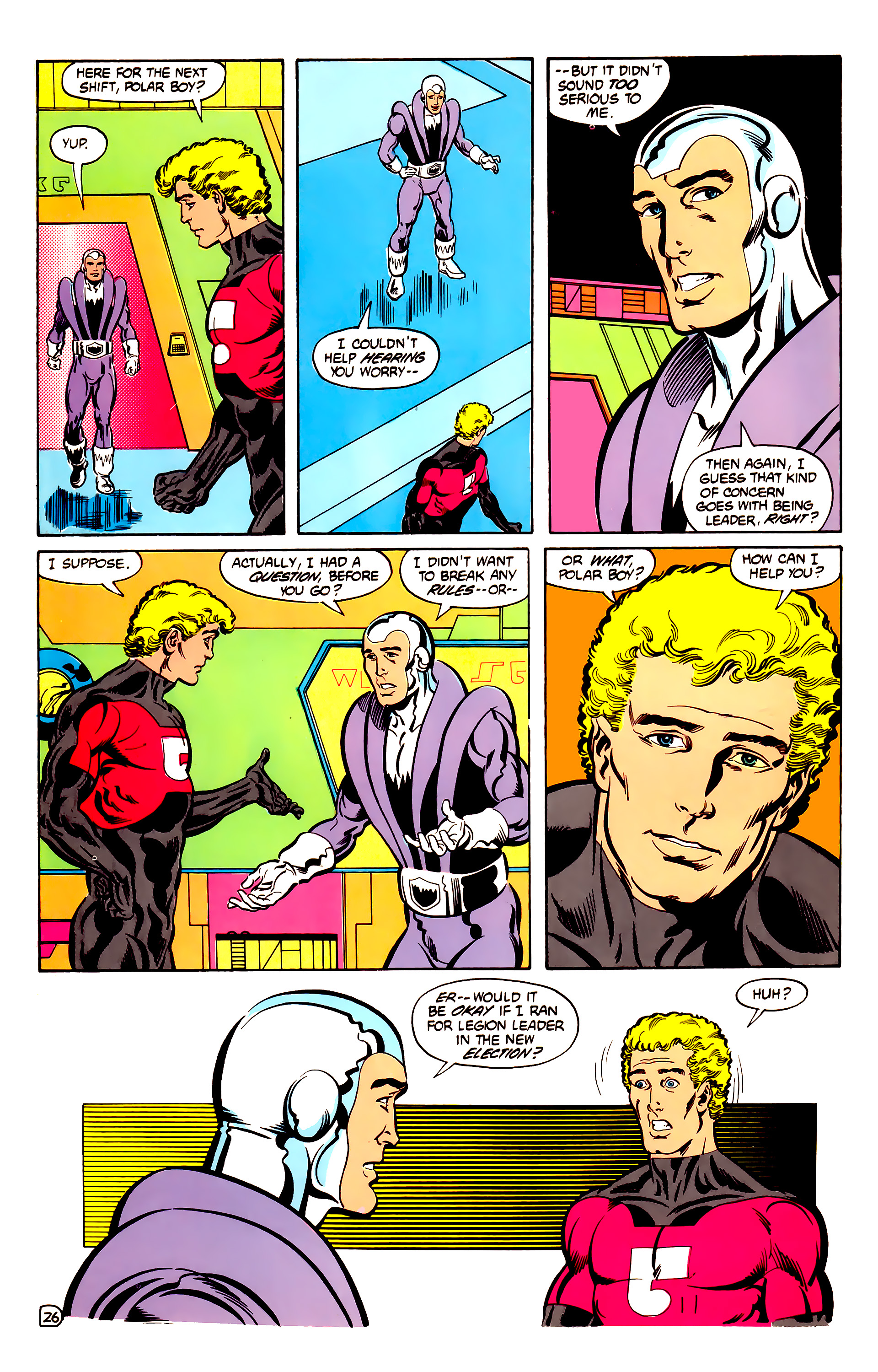 Legion of Super-Heroes (1984) 30 Page 26