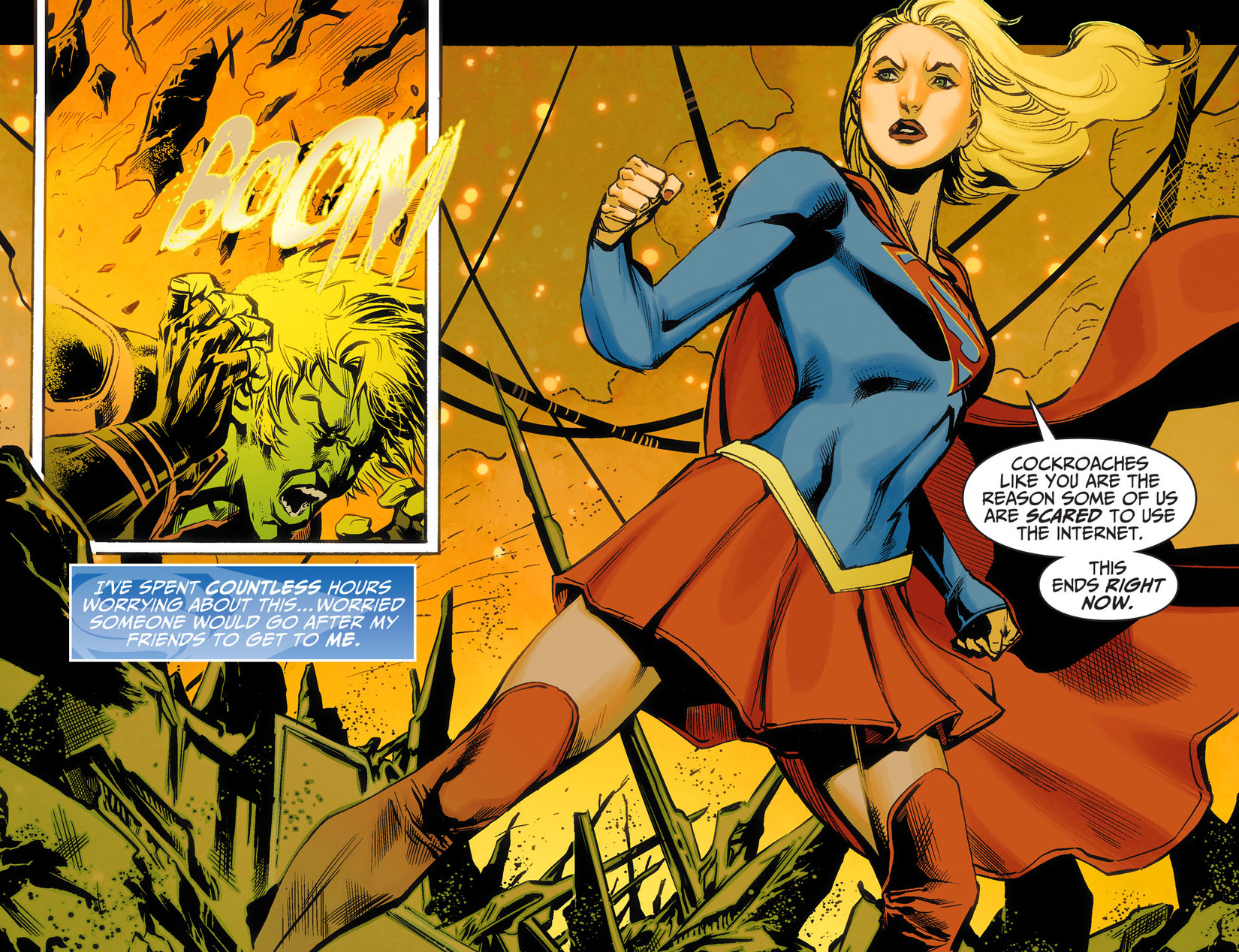 Read online Adventures of Supergirl comic -  Issue #5 - 18