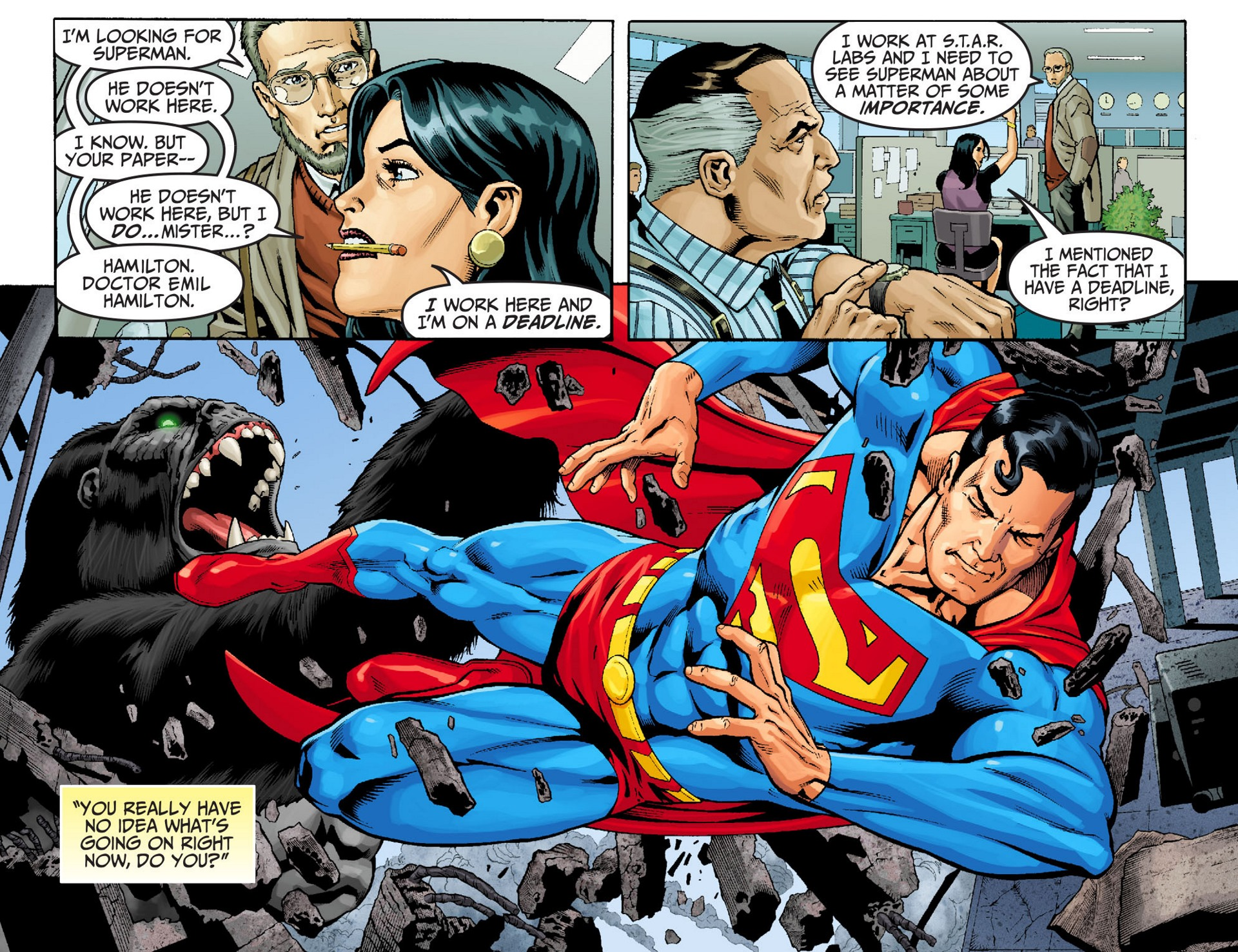 Read online Adventures of Superman [I] comic -  Issue #22 - 4
