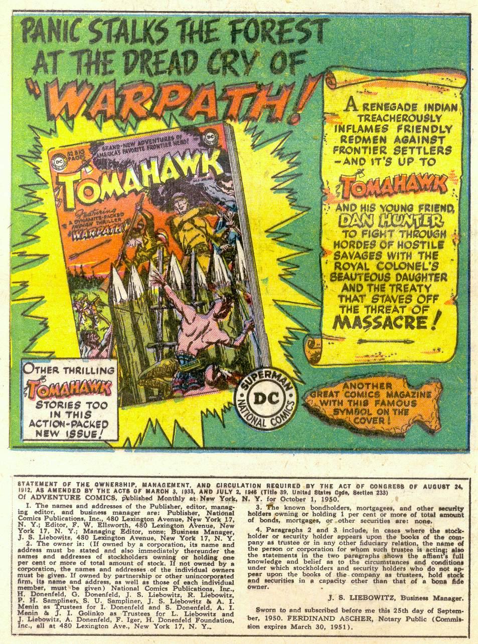 Read online Adventure Comics (1938) comic -  Issue #161 - 34