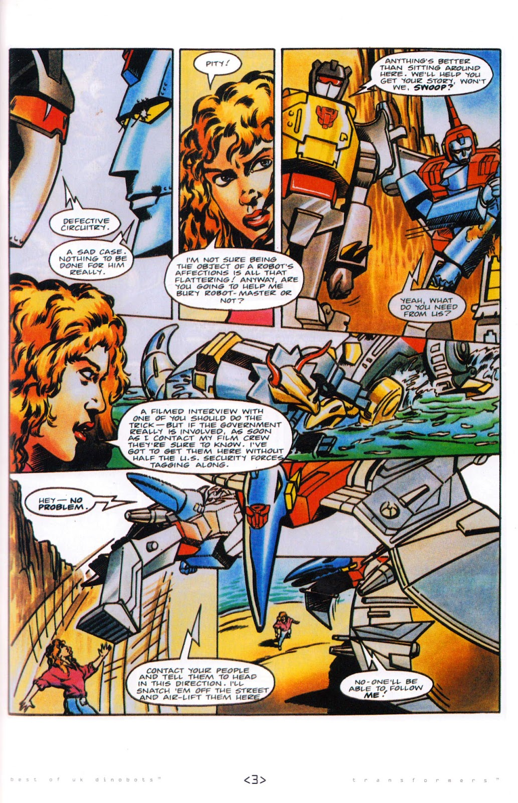 Read online The Transformers: Best of UK: Dinobots comic -  Issue #5 - 5