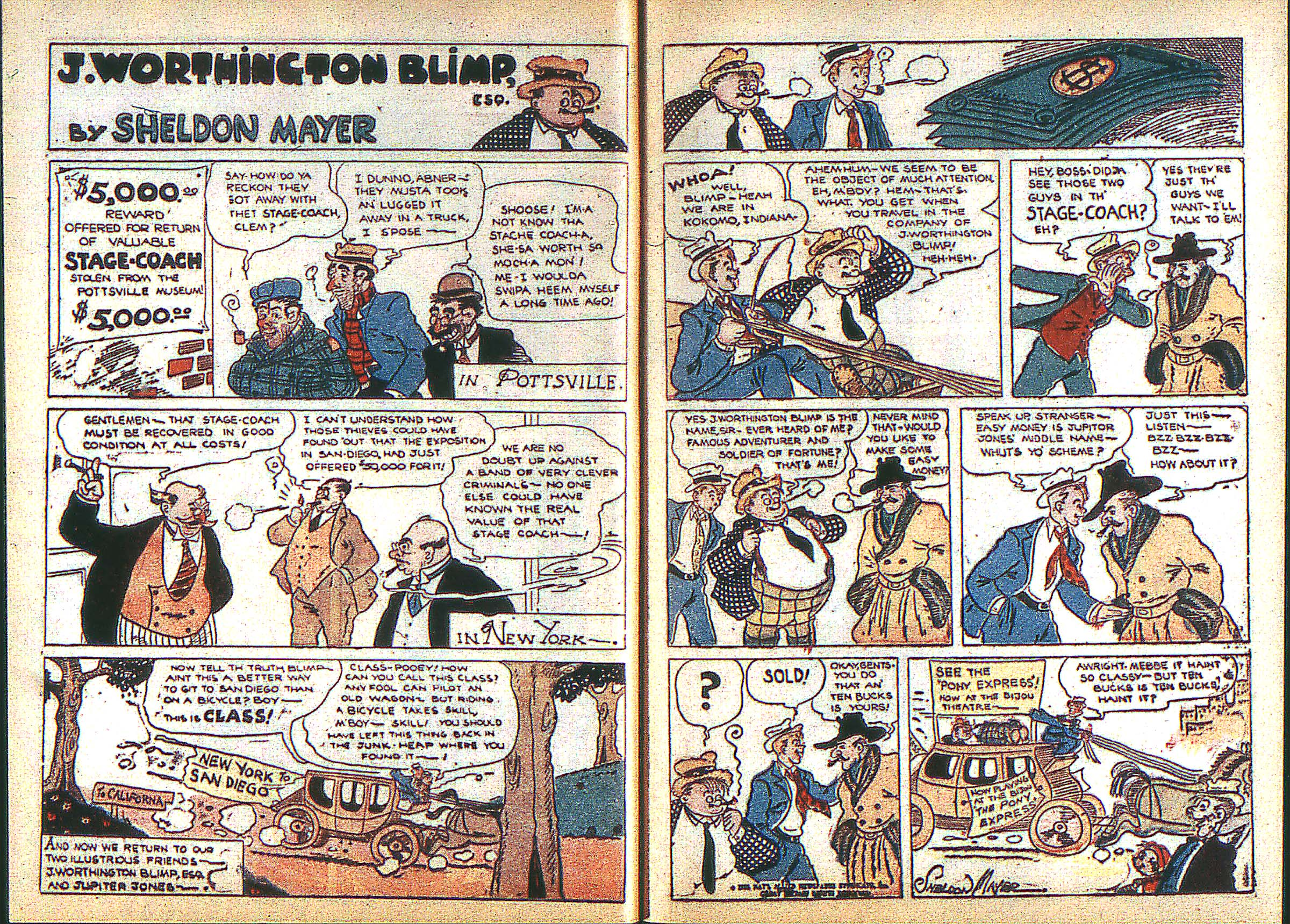 Read online Adventure Comics (1938) comic -  Issue #3 - 9