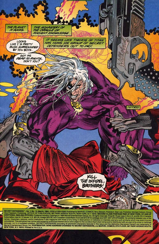 Read online Secret Defenders comic -  Issue #13 - 2