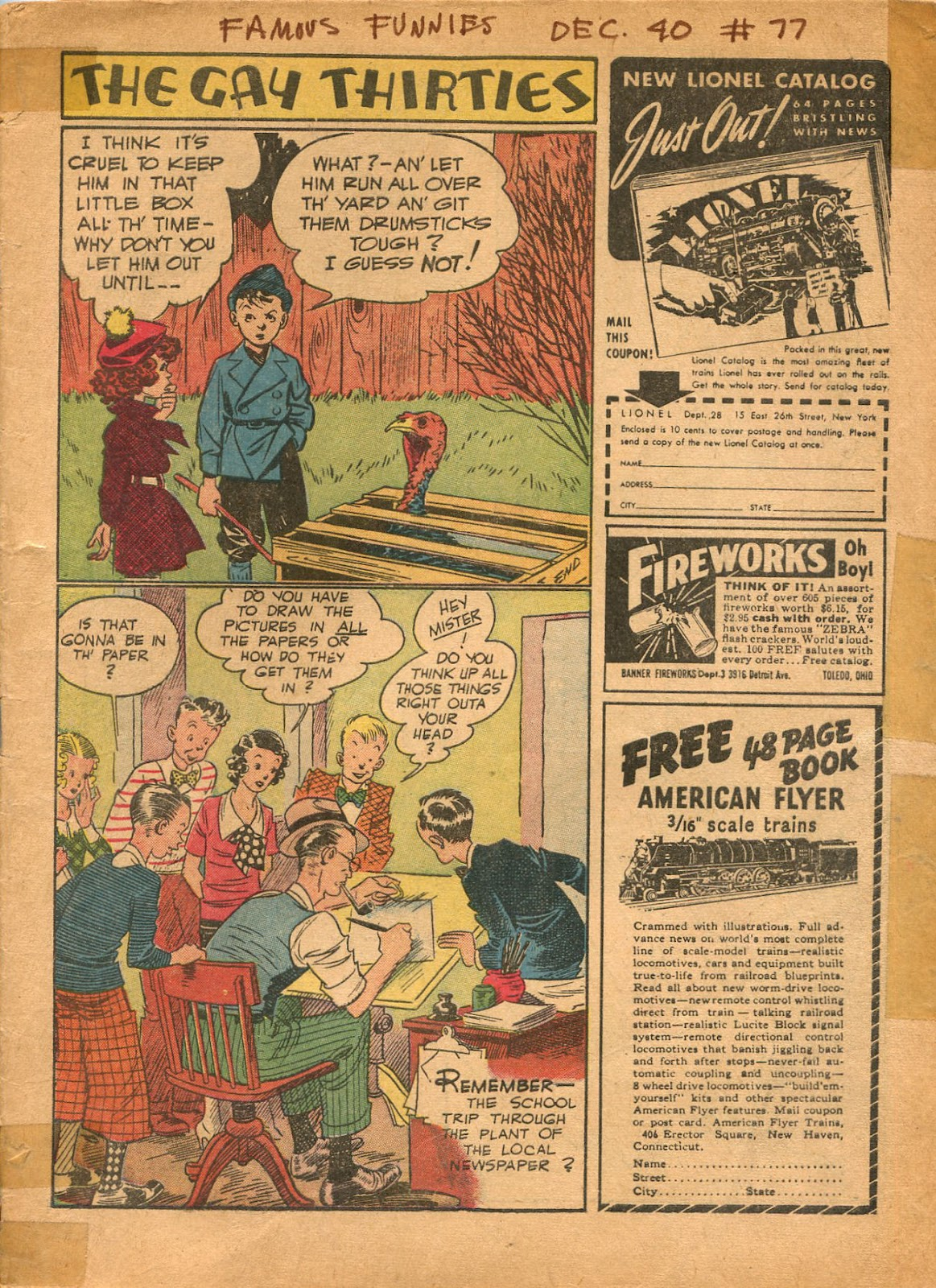 Read online Famous Funnies comic -  Issue #77 - 2