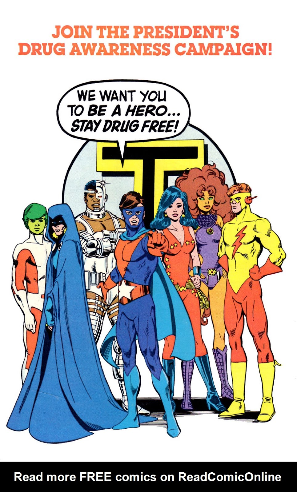 Read online The New Teen Titans (Drug Awareness Specials) comic -  Issue #1 - 36