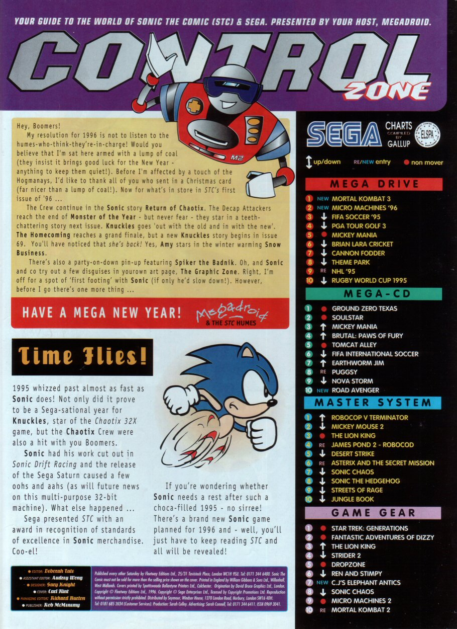 Read online Sonic the Comic comic -  Issue #68 - 2
