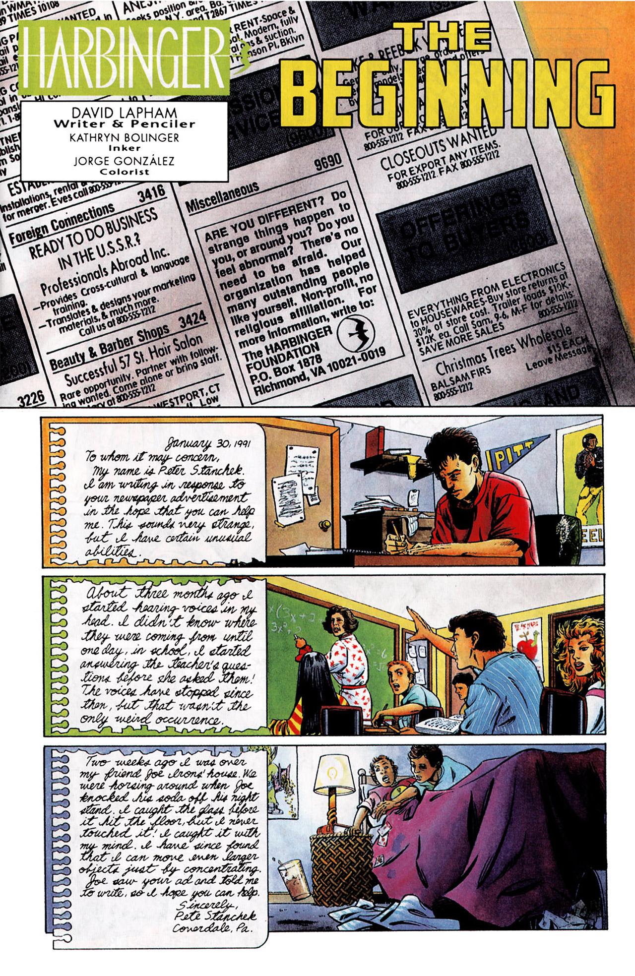 Read online Harbinger (1992) comic -  Issue #0 - 2